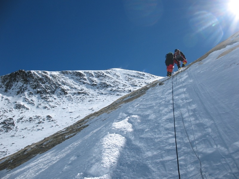 http://en.wikipedia.org/wiki/File:Climbing_through_the_Yellow_Band,_Mt._Everest,_-May_2007_a.jpg